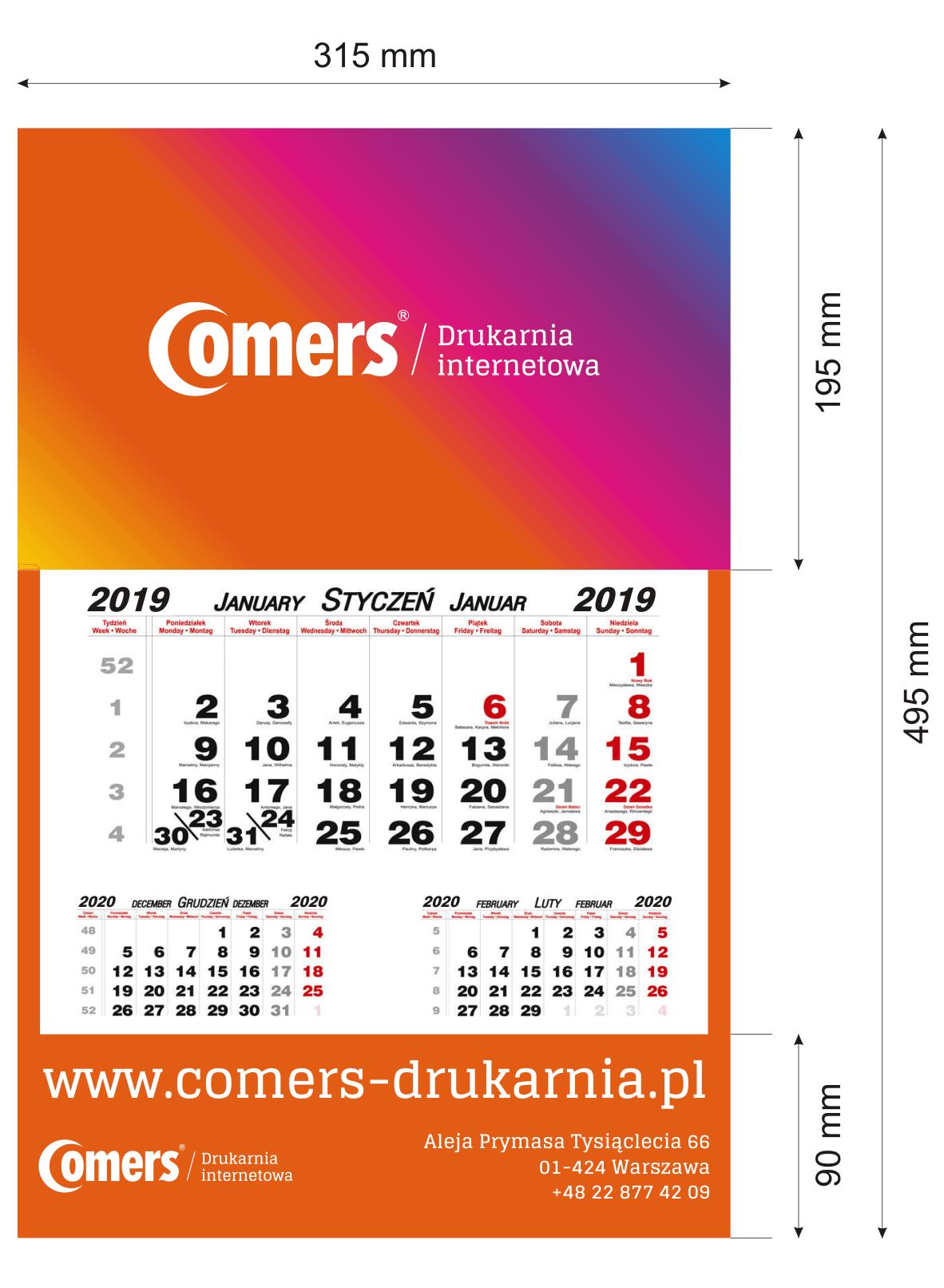 makieta-kalendarza-jednodzielnego